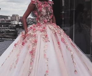 ball gown prom dresses, prom dresses long, and prom dresses pink image