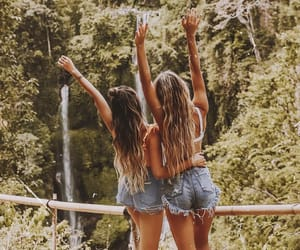 bali, models, and best friends image