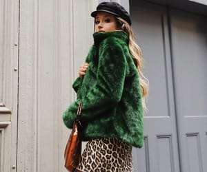 fashion week, fur coat, and nyc image