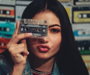 cassette, girl, and old image