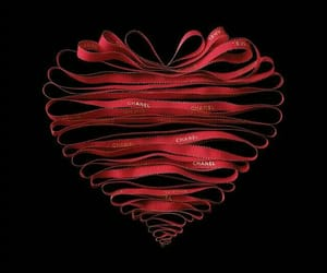 heart, red, and chanel image