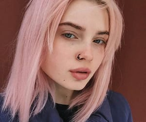 fashion, pink hair, and coloredhair image