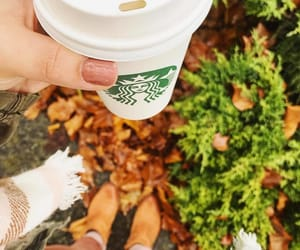 autumn, boots, and coffee image