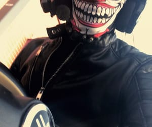 bike, mask, and white image