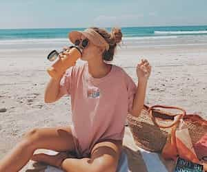 article, beach, and happy image