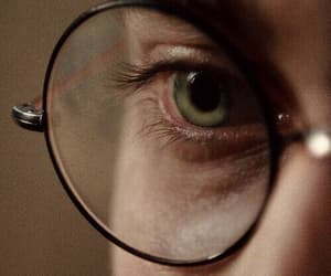harry potter, eyes, and glasses image