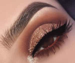 makeup, glitter, and lashes image