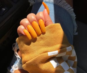 nails, yellow, and inspiration image