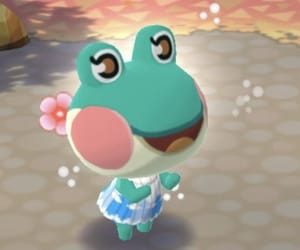 flowers, frog, and kawaii image