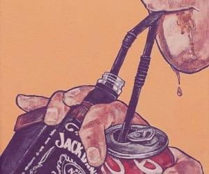 coca, jack daniels, and vintage image