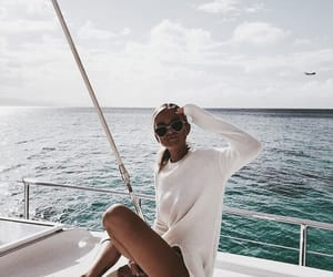 summer, fashion, and boat image