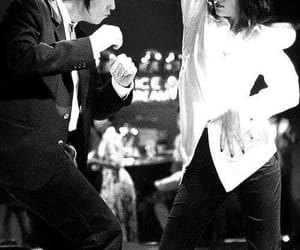 black and white, couple, and dancing image