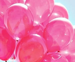 pink, transparency, and balloons image