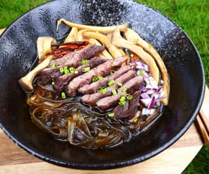 asian, beef, and food image