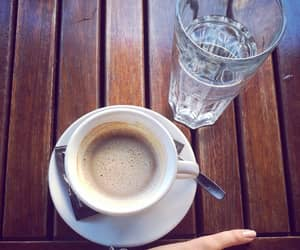 blue, morning, and coffee image