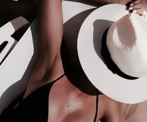 girl, summer, and tan image