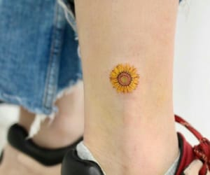 flowers, sunflower, and Tattoos image