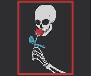 black, esqueleto, and rose image