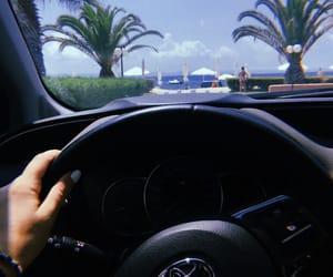 beach, beauty, and car image