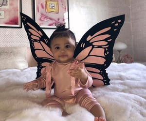 stormi, kylie jenner, and butterfly image