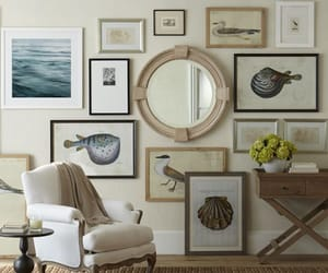 diy, living room, and gallery wall image