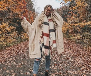 fall, girl, and style image