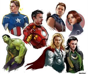 black widow, captain america, and Hulk image