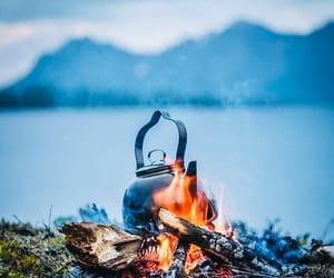 camp, lake, and camping image