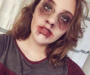 girl, zombie, and haunt image