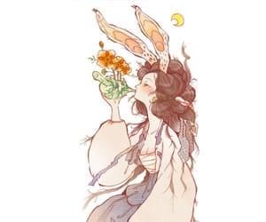 art, bunny, and girl image