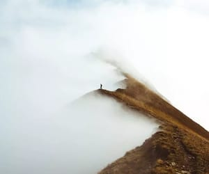alone, mist, and mountains image