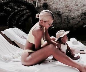 baby, mom, and beach image