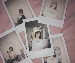 aesthetic, pink, and polaroid image