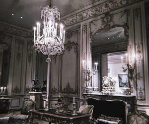 antiques, chandelier, and dark image