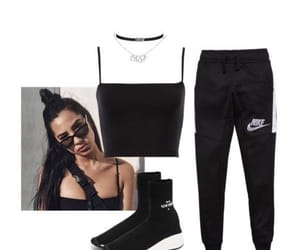 black, nike, and outfits image