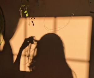 aesthetic, shadow, and girl image