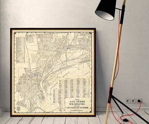 canvas print, etsy, and map image