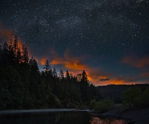 landscape, milky way, and night image
