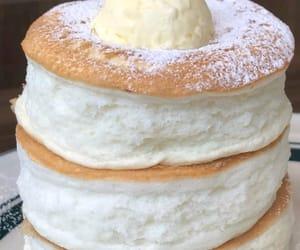food, pancakes, and sugar image