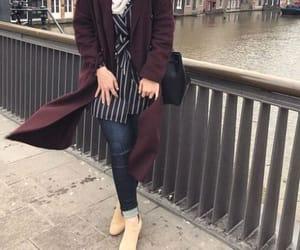 bag, girl, and scarf image
