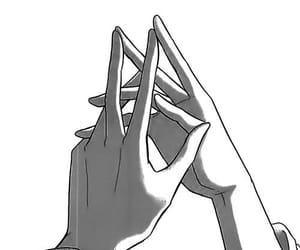 hands, manga, and anime image