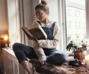 book, cute, and girl image