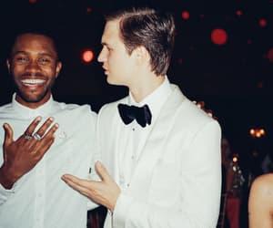 singer, frank ocean, and ansel elgort image