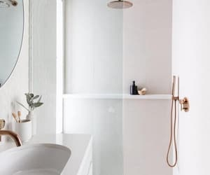 bathroom, exterior, and flowers image