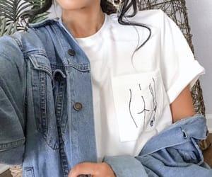 fashion, denim, and girly image