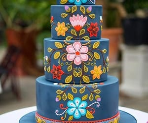 art, cake, and cupcakes image
