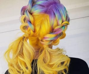 braids, colorful hair, and hair image