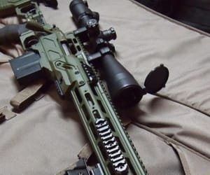 aesthetic, black, and rifle image