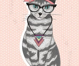 animal, cats, and glasses image