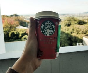 coffee, fall, and starbucks image